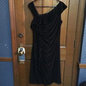 EUC Black Wavy Tiny Sequined Satra Cocktail  Dress